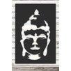 Factory4Home 2-tlg. Schild-Set SH-Buddha head, Grafische Kunst  in Schwarz