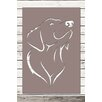 Factory4Home 2-tlg. Schild-Set SH-Dog, Grafische Kunst in Taupe