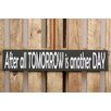 Factory4Home 2-tlg. Schild-Set BD-After all tomorrow, Typographische Kunst in Schwarz