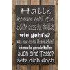 Factory4Home 2-tlg. Schild-Set BD-Hallo komm mal rein, Typographische Kunst in Schwarz
