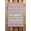 Factory4Home 2-tlg. Schild-Set BD-Hallo komm mal rein, Typographische Kunst in Taupe