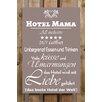 Factory4Home 2-tlg. Schild-Set BD-Hotel Mama 24/7 geöffnet, Typographische Kunst in Taupe