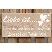 Factory4Home 2-tlg. Schild-Set BD-Liebe ist…, Typographische Kunst