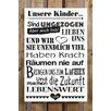 Factory4Home 2-tlg. Schild-Set BD-Unsere Kinder, Typographische Kunst
