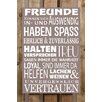Factory4Home 2-tlg. Schild-Set BD-Freunde, Typographische Kunst in Taupe