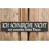 Factory4Home 2-tlg. Schild-Set BD-Ich schnarche nicht, Typographische Kunst in Schwarz