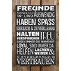 Factory4Home 2-tlg. Schild-Set BD-Freunde, Typographische Kunst in Schwarz