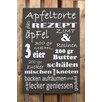 Factory4Home 2-tlg. Schild-Set BD-Apfeltorte, Typographische Kunst in Schwarz