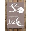 Factory4Home 2-tlg. Schild-Set BD-Live by the Sun, Typographische Kunst in Taupe