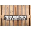 Factory4Home 2-tlg. Schild-Set BD-Heim und Herd, Typographische Kunst in Schwarz