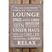 Factory4Home 2-tlg. Schild-Set BD-Lounge Leben Geniessen, Typographische Kunst in Taupe