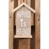 Factory4Home 2-tlg. Schild-Set HS-Happiness, Typographische Kunst