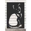 Factory4Home 2-tlg. Schild-Set SH-Cat, Grafische Kunst in Schwarz
