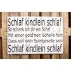 Factory4Home 2-tlg. Schild-Set BD-Schlaf Kindlein Schlaf, Typographische Kunst