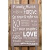 Factory4Home 2-tlg. Schild-Set BD-Family rules, Typographische Kunst in Taupe