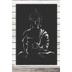 Factory4Home 2-tlg. Schild-Set SH-Buddha sitting, Grafische Kunst in Schwarz