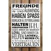 Factory4Home 2-tlg. Schild-Set BD-Freunde, Typographische Kunst in Weiß