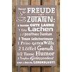 Factory4Home 2-tlg. Schild-Set BD-Rezept für Freude, Typographische Kunst in Taupe