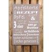 Factory4Home 2-tlg. Schild-Set BD-Apfeltorte, Typographische Kunst in Taupe