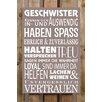 Factory4Home 2-tlg. Schild-Set BD-Geschwister, Typographische Kunst in Taupe