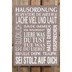Factory4Home 2-tlg. Schild-Set BD-Hausordnung, Typographische Kunst in Taupe