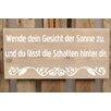 Factory4Home 2-tlg. Schild-Set BD-Wende dein Gesicht, Typographische Kunst