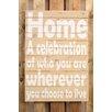 Factory4Home Schild BD-Home a celebration, Typographische Kunst