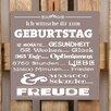Factory4Home 2-tlg. Schild-Set BD-Ich wünsche dir zum Geburtstag, Typographische Kunst in Taupe