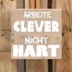 Factory4Home 2-tlg. Schild-Set BD-Arbeite clever, Typographische Kunst