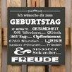 Factory4Home 2-tlg. Schild-Set BD-Ich wünsche dir zum Geburtstag, Typographische Kunst in Schwarz