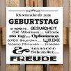 Factory4Home 2-tlg. Schild-Set BD-Ich wünsche dir zum Geburtstag, Typographische Kunst in Weiß