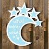 Factory4Home Schild BL-Mond, Typographische Kunst in Blau