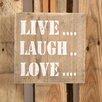 Factory4Home 2-tlg. Schild-Set BD-Live Love Laugh, Typographische Kunst