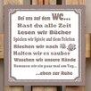 Factory4Home 2-tlg. Schild-Set BD-Bei uns auf dem WC, Typographische Kunst in Taupe
