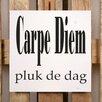 Factory4Home 2-tlg. Schild-Set BD-Carpe Diem, Typographische Kunst