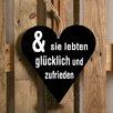 Factory4Home 2-tlg. Schild-Set HE-Und sie lebten, Typographische Kunst in Schwarz