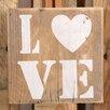 Factory4Home 2-tlg. Schild-Set BD-Love, Typographische Kunst