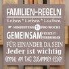 Factory4Home 2-tlg. Schild-Set BD-Familien-Regeln, Typographische Kunst in Taupe