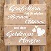Factory4Home Schild BD-Groβeltern, Typographische Kunst