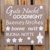 Factory4Home 2-tlg. Schild-Set BD-Gute Nacht, Typographische Kunst in Taupe