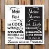 Factory4Home 2-tlg. Schild-Set BD-Mein Papa und meine Mama, Typographische Kunst in Weiß