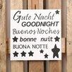 Factory4Home 2-tlg. Schild-Set BD-Gute Nacht, Typographische Kunst in Weiß