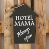 Factory4Home 2-tlg. Schild-Set HS-Hotel Mama, Typographische Kunst