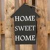 Factory4Home 2-tlg. Schild-Set HS-Home sweet home, Typographische Kunst in Schwarz