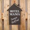 Factory4Home 2-tlg. Schild-Set HS-Hotel Mama, Typographische Kunst in Schwarz