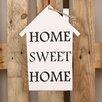 Factory4Home 2-tlg. Schild-Set HS-Home sweet home, Typographische Kunst in Weiß