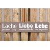 Factory4Home 2-tlg. Schild-Set BD-Lache jeden Tag, Typographische Kunst in Taupe
