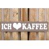 Factory4Home 2-tlg. Schild-Set BD-Ich liebe Kaffee, Typographische Kunst in Taupe