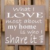 Factory4Home 2-tlg. Schild-Set BD-What I love most, Typographische Kunst in Taupe