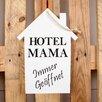 Factory4Home 2-tlg. Schild-Set HS-Hotel Mama, Typographische Kunst in Weiß